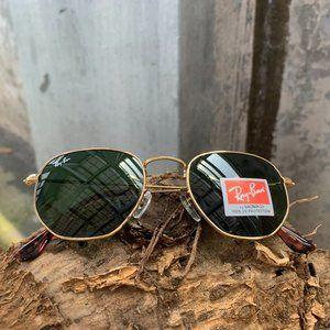 Ray Ban Hexagonal Flat Lenses Sunglasses RB3548-N